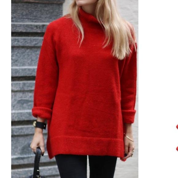 Zara man black turtleneck sweater size  S